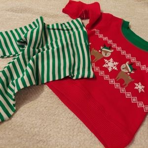 Carter's baby Christmas outfit size 3M